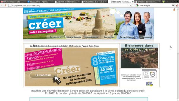 concours creer 2012: 60 000 € de dotations