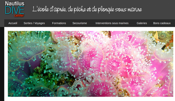 nautilus dive center 1er centre de plongee mobile, publie son calendrier des sorties